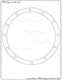 What do you see in the water? CreKid.com - Creative Drawing Printouts - Spark your child's imagination and creativity. So much more than just a coloring page. Preschool - Pre K - Kindergarten - 1st Grade - 2nd Grade - 3rd Grade. www.crekid.com