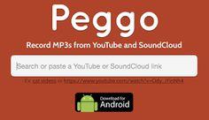 AYUDA PARA MAESTROS: Peggo - Herramienta online y App para descargar el audio de YouTube o SoundCloud