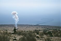Cai Guo-Qiang - The Century with Mushroom Clouds, 1996.