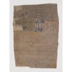 Hannelore Baron (1926-1987), Untitled, 1977. Cloth, ink and thread. 24.4cm H x 17.1cm W.