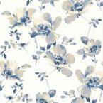 Ludor Blue Floral Wallpaper Sample