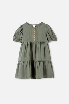 Meredith Short Sleeve Dress Little Dresses, Girls Dresses, Cute Statuses, Gathered Skirt, New Image, Short Sleeve Dresses, Tunic Tops, Rompers, Sleeves