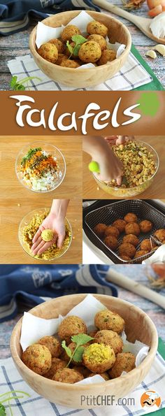 Falafels are little chick pea balls, a healthy starter for an oriental meal! - Recipe Starter : Falafel, a quick and easy recipe by PetitChef_Official Quick Recipes, Quick Easy Meals, Batch Cooking, Cooking Recipes, Cooking Food, Falafels, Vegetarian Recipes, Healthy Recipes, Vegan Vegetarian