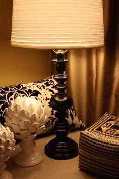 how to paint metal/brass! diy lamp