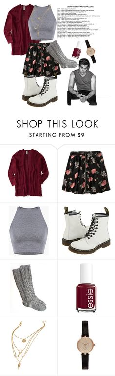 """""""Day 6"""" by emmapierce42 ❤ liked on Polyvore featuring Aéropostale, Abercrombie & Fitch, Dr. Martens, Essie and Barbour"""