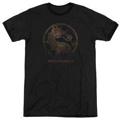 Mortal Kombat X - Metal Seal Adult Ringer T- Shirt