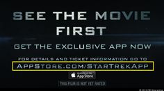 New Vanity URLS from Apple shown in the Star Trek trailer.