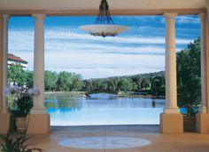 Infinity pool overlooking lake at the Broadmoor Resort.  I love it here!