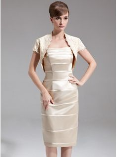 Mother of the Bride Dresses - $135.99 - Sheath/Column Sweetheart Knee-Length Charmeuse Mother of the Bride Dress  http://www.dressfirst.com/Sheath-Column-Sweetheart-Knee-Length-Charmeuse-Mother-Of-The-Bride-Dress-008006402-g6402