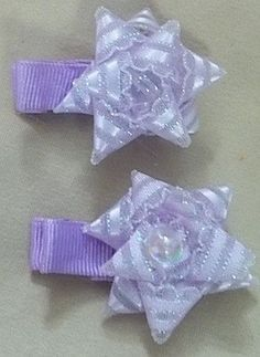 Lavender Hair Clips | Jenstardesigns - Children's on ArtFire