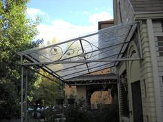 If installed right could be almost invisible from street: Suntuf 26 in. x 8 ft. Polycarbonate Roofing Panel in Clear 101697 at The Home Depot - Mobile Backyard Pergola, Pergola Shade, Patio Roof, Pergola Plans, Corrugated Roofing, Corrugated Plastic, Shade House, Pergolas For Sale, Roof Panels
