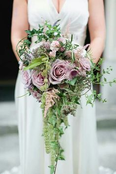 Waterfall bouquet - like the length and shape but different flowers