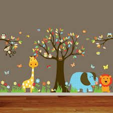 Animal and tree decals, so cute for boy or girl nurseries