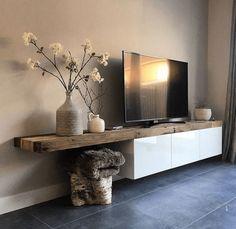 Room Design with tv tv stands Wohnzimmer / Speicher / 750 × 729 Pixel - Wohnaccessoires Living Room Storage, Living Room Tv, Living Room Interior, Home And Living, Modern Living, Tv Stand Ideas For Living Room, Modern Tv, Wooden Tv Stands, Tv Stand Designs