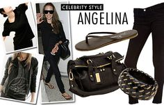 I love Angelina Jolie's all black style. Simple, bold, and classic!!!
