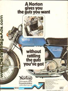"1975 Norton 850 Commando – ""Gives You the Guts You Want"""
