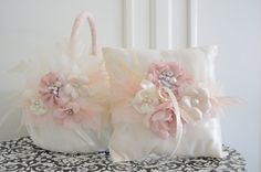 Flower Girl Basket and Ring by yanethandco on Etsy, $110.00