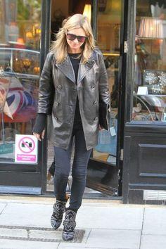 la modella mafia Kate Moss in Isabel Marant western boots Spring 2013 fashion week