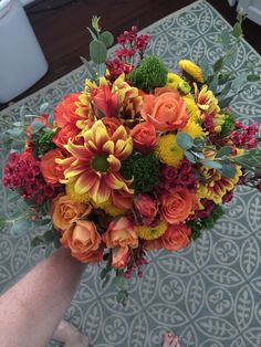 Colorful Fall bouquet by Reynolds Treasures