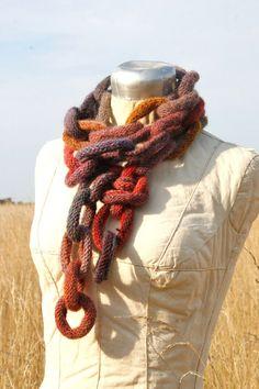 Prairie Chain Scarf; think I could make this??