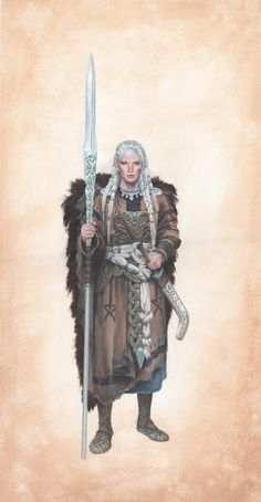 Art by Paul Bonner. Likely for Trudvang Chronicles. Fantasy Character Design, Character Concept, Character Art, Concept Art, Vikings, Fantasy Armor, Medieval Fantasy, Dnd Characters, Fantasy Characters