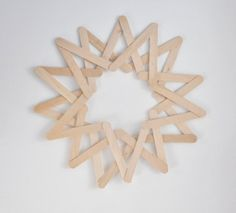 Fapálcás csillag leírás - Masni / Wood popsticle sticks star DIY