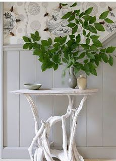 Inspiration: a collection of twiggy console tables