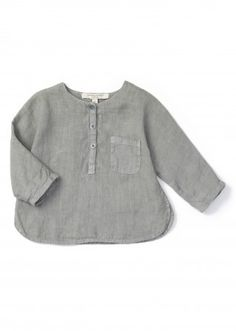 Caraway Baby Shirt, Misty Blue, 12m by Caramel Baby & Child | Caramel Baby…