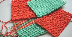 The Crochet Box Stitch is the stitch of the week. This stitch ialices pretty in a single color yarn but really comes into its own when worked in rows of...