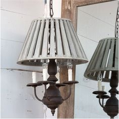 Wooden Shaded Pendant Light is a farmhouse chandelier with rustic charm. Visit Antique Farmhouse for more hanging light fixtures. Foyer Pendant Lighting, Farmhouse Pendant Lighting, Farmhouse Light Fixtures, Farmhouse Chandelier, Shabby Chic Farmhouse, Antique Farmhouse, Farmhouse Ideas, Multi Light Pendant, Hanging Light Fixtures