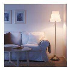 ÅRSTID Golvlampa, förnicklad, vit - - - IKEA