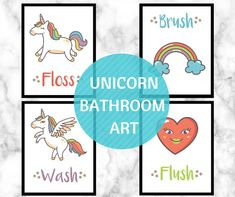 Hello Wonderful Unicorn Bathroom Wall Art Free Printable Rooms Decor