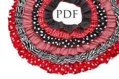 Christmas Tree Skirt Tutorial  PDF Ruffle by littlelizardking
