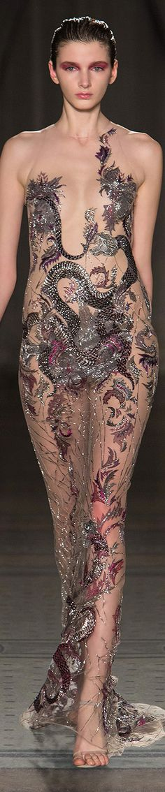 Julien Macdonald Autumn/Winter 2014  ✤LadyLuxury✤ - save yourself the $$ and wear nothing at all. This is really cheesy