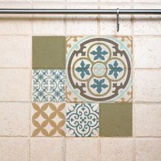 Mix Tile Wall Decals 302 decorative tiles vinyl stickers tiles free shipping by videcor on Etsy