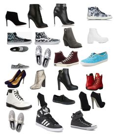 """""""All those shoes and I have more """" by crystals-1 ❤ liked on Polyvore featuring Vans, Keds, Giuseppe Zanotti, Sergio Rossi, Tom Ford, Dr. Martens, ASOS, Christian Louboutin, Office and adidas"""