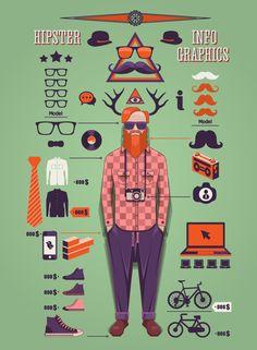 O estilo Hipster em vetores gratuítos