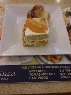 Caramel Cream Puff and Mango Cream Cake from Dulcinea
