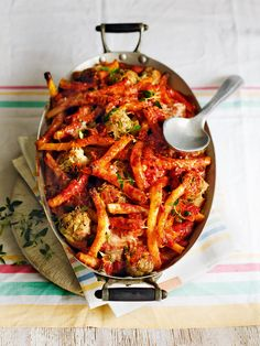 Ziti is a long, hollow pasta that allows you to suck up the sauce as though through a straw! Bucatini or macaroni both make good alternatives. This pasta dish is suitable for freezing.