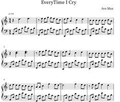 Easy Piano Sheet Music, Free Sheet Music, Crying, Sheet Music, Free Piano Sheet Music