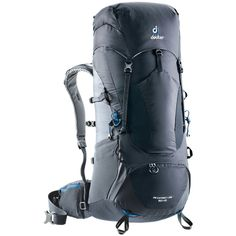 The Aircontact Lite 50 + 10 pack boasts lightweight, reliable comfort with a streamlined and a classic fit. Featuring a Vari-Quick back length adjustment system, ice axe and hiking pole loops, as well as a stretch front pocket and bottom compartme. Camping Equipment, Camping Gear, Graphite, Nylons, Camping Photography, Basic Tops, Unisex, Black Friday Deals, Hiking Backpack