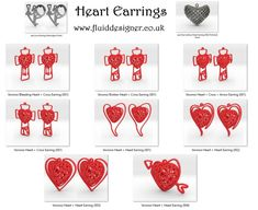 Blender + JewelCraft + Fluid Designer for Printing Cad Software, Heart Earrings, Artwork Prints, Personalized Jewelry, Create Your Own, 3d Printing, Wax, Jewelry Design, Jewellery