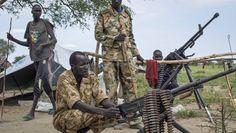 Kampfpause: Rebellen in der Nähe der Ölförderanlagen bei Bentiu
