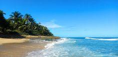 Clear water, blue skies. Surfers Beach, Puerto Rico.