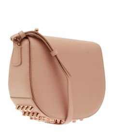 Alexander Wang Small Beige Lia Shoulder bag with Rose Gold Studs | Bags by Alexander Wang | Liberty.co.uk
