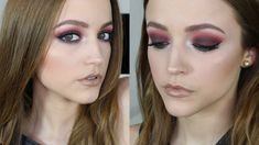 Red & Teal   Makeup Tutorial #kathleenlight #smokey #eye #nude #lips #night #date #sexy
