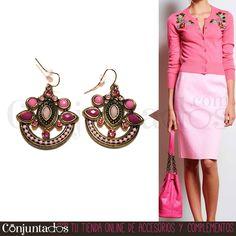 ¡Me encantan los colores de esta primavera 2016! Rosas, azules, verdes. Nuestros pendientes Surat de abalorios en dorado y rosa son perfectos para todos los looks: desenfadados y arreglados ★ Precio: 12,95 € en http://www.conjuntados.com/es/pendientes-surat-en-dorado-y-rosa.html ★ #novedades #pendientes #earrings #conjuntados #conjuntada #joyitas #jewelry #bisutería #bijoux #accesorios #complementos #outfit #moda #fashion #estilo #style #GustosParaTodas #ParaTodosLosGustos