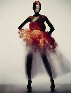 "itsaleph: "" "" Lineisy Montero in Haute Couture for Vogue Italia September 2015 "" """