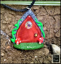 Elixir Crafts fairy door necklace Polymer Clay Necklace, Clay Ideas, Fairy, Necklaces, Christmas Ornaments, Holiday Decor, Handmade, Crafts, Hand Made