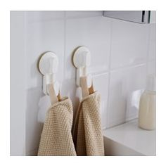 IKEA - STUGVIK, Hook with suction cup, , With suction cups that grip smooth surfaces such as glass, mirrors and tiles.